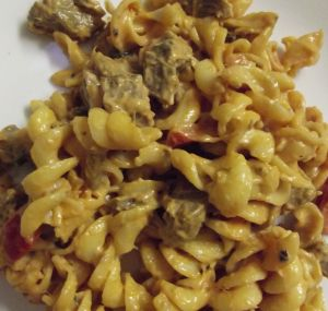 Pasta with Leftover Roast Meat