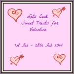 Lets cook sweet treats for valentine logo
