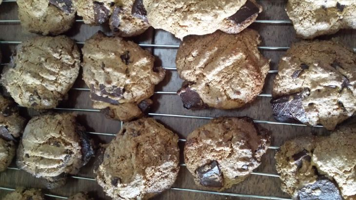 GF choc chip cookies