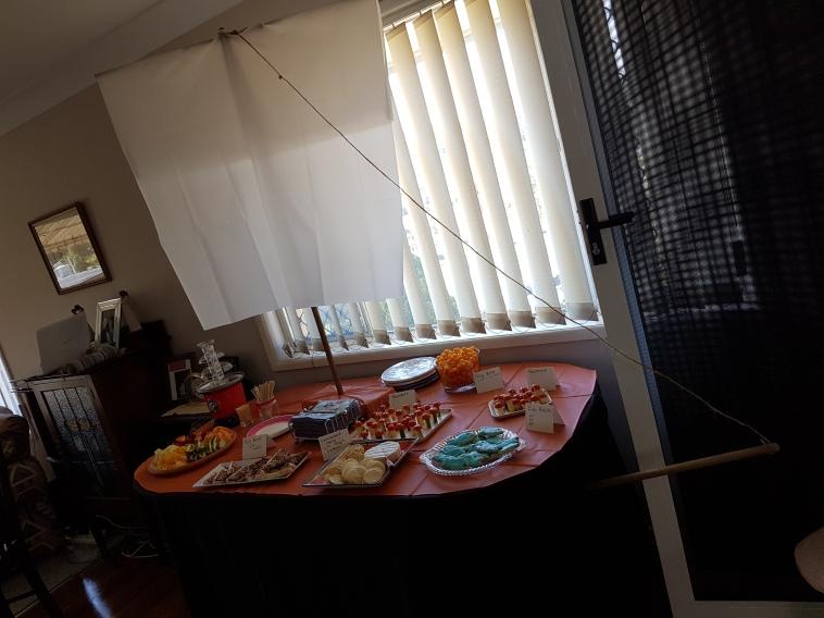 The Ship food table.