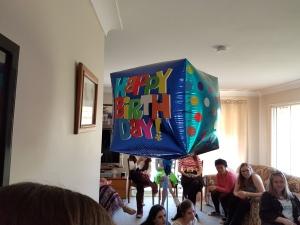 The helium balloon.