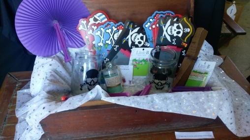 The treasure box of prizes.