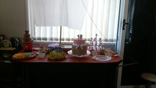 The cake on the desert table