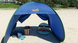 Under the beach shades