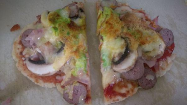 Homemade Pizza on Grain Free Dough