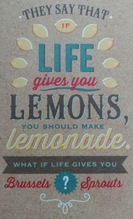 """If Life gives you lemons ..."" thinking of you card"