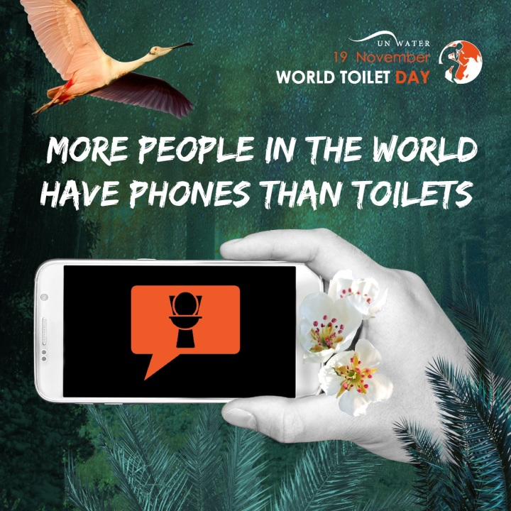 more people in the world have phones than toilets