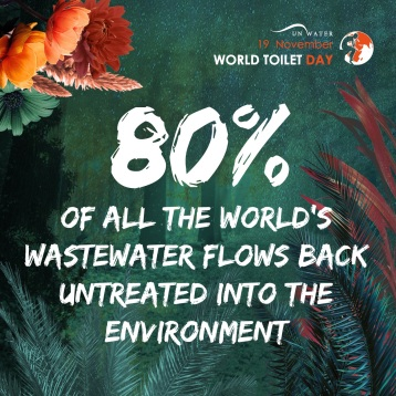 80% of all the world's wastewater flows back untreated into the environment