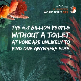 The 4.5 billion people without a toilet at home are unlikely to find one anywhere else